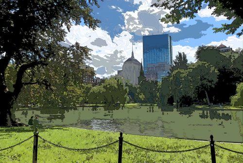 Summer in the Boston Public Garden